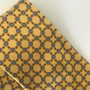 Ermenegildo Zegna Yellow Gold Geometric Silk Tie